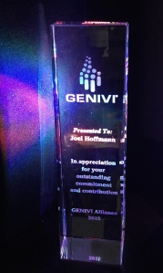 GENIVI Presented its first Lifetime Achievement Award to Joel Hoffmann on April 2015