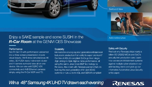 CES Showcase at GENIVI Trump Party – Renesas